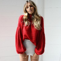 Knit Tops Winter Pullover Lights Sweater [22426517530]