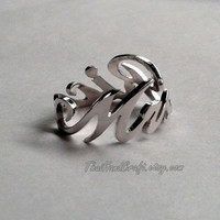 """Script Wrap Name Ring, Personalized with ANY NAME. """"Free Shipping"""""""