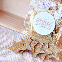 Glitter Gold Star Confetti 50CT - 1st Birthday Party Decorations for Boys