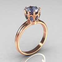 Modern Antique 18K Pink Gold 040 CT Marquise and 10 by artmasters