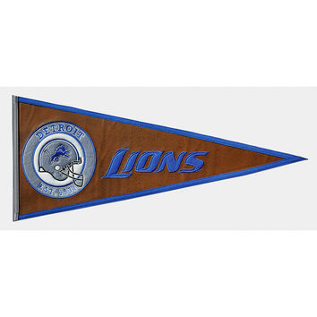 Detroit Lions NFL Pigskin Traditions Pennant (13x32)