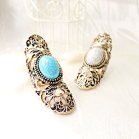 Baroque Opal Floral Ring (2 Colors!)