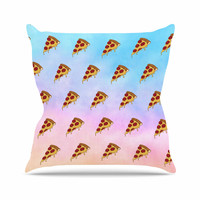"Juan Paolo ""Lucid Pizza"" Food Pattern Throw Pillow"
