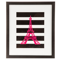 Striped Eiffel Tower Framed Wall Art | Hobby Lobby | 1293539