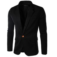 Men Brand Formal Clothing Suit Black