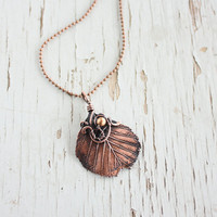 Real leaf necklace - Botanical jewelry - Forest Girl - Leaf jewelry - for woman - Holiday gifts - christmas