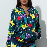 Adidas Floral Graphic Track Jacket