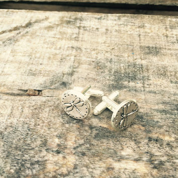 Dragonfly Cufflinks Silver Cuff Link Men and Womens Accessories