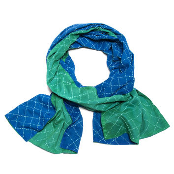 Two-Tone Quilted Cotton Scarf