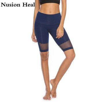 Mesh Lulu Sports Yoga Shorts Mesh Breathable Ladie Girl Runnings Short Pants for Running Athletic Sport Fitness Clothes Jogging
