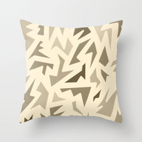 Brown Pillow Cover - Cover Only - 20 x 20 - Brown Patterned - Ready to Ship