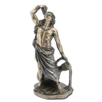 Dionysus (Bucchus) Greek Roman God of Wine Statue Real Bronze Powder Cast Statue, 11-inch