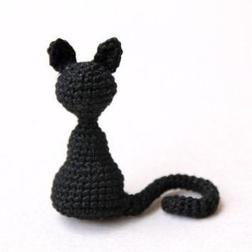 Amigurumi Black Cat: Crochet, Handmade, Home Decor
