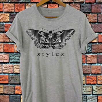 one direction shirt harry styles tatto shirt harry styles shirt women and men shirt black white grey S-XXL size available