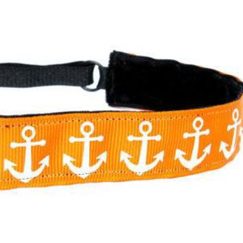 Orange Anchors Headband