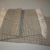Womens Vintage Handwoven Winter Scarf Possibly Cashmere