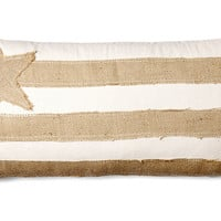 French Laundry Home, Flag 10x20 Burlap Pillow, Natural, Decorative Pillows