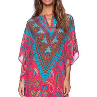 Bohemian Printed V-Neck Dress