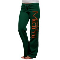 Miami Hurricanes Ladies Green Rugby Fleece Sweatpants