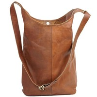 Vintage Handmade Leather Byron Bay Bucket Bag