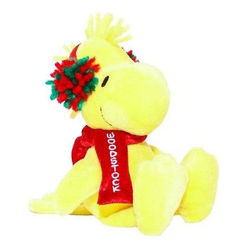 Peanuts Gang Holiday WOODSTOCK Plush Musical Doll NWT 10""
