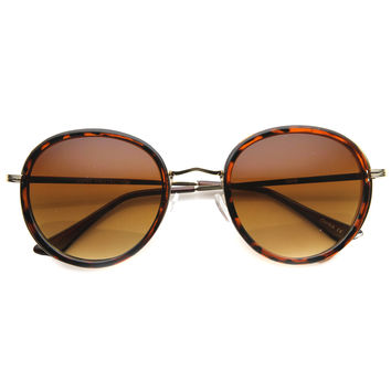 Women's Retro Fashion Round Cat Eye Sunglasses 9786