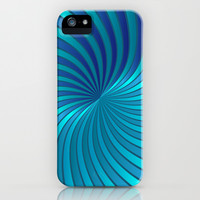 Blue Spiral Vortex G213 iPhone & iPod Case by MedusArt