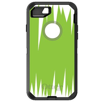 DistinctInk™ OtterBox Defender Series Case for Apple iPhone / Samsung Galaxy / Google Pixel - Lime Green White Spikes