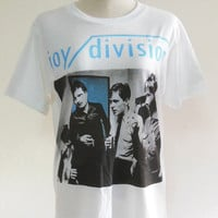 Joy Division Shirt English Rock Post Punk Rock -- Music Tee Shirt White T-Shirt Women T-Shirt Men T-Shirt Music T-Shirt Size M