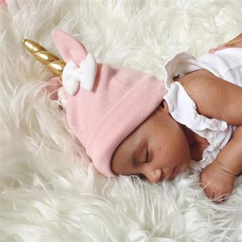 2018 Infant to Toddler Unicorn Hat Pink
