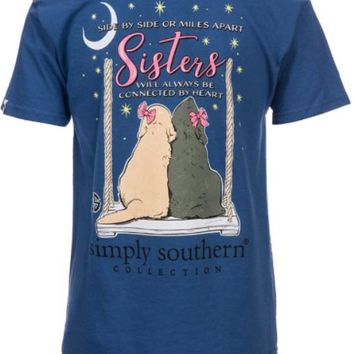 "Simply Southern Youth ""Sister Moonrise"" Top- Blue"