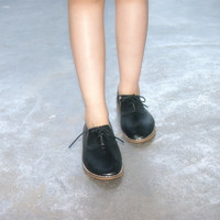 Casual Flat Leather Shoes [6050468993]