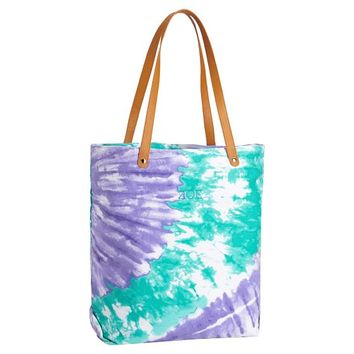 Seaside Splash Beach Tote, Cool Tie-Dye