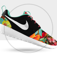 Custom Nike Roshe Run Black Island Floral