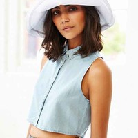 Canvas Floppy Hat- White One