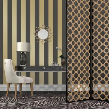Tempaper Mini Stripe Decal Self-Adhesive Wallpaper | Hayneedle