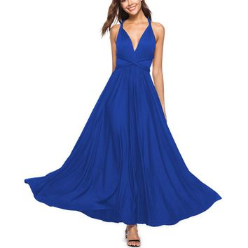 Sexy Women Dress Multi Way Wrap Convertible Bandage Maxi Dress Formal Bridesmaid Blue Summer Long Dresses Vestidos de fiesta
