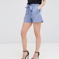 ASOS PETITE Tailored High Waist Short with Belt