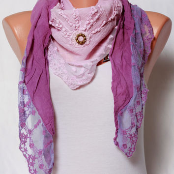 lace scarf purple Scarf Womens fashion scarves spring scarf womens scarves summer scarves Cotton Scarf Shawl scarf gift ideas For Her