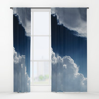 Sky, clouds and lights. Window Curtains by VanessaGF