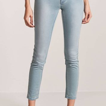 Faded Mid-Rise Jeans