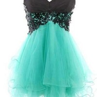 Charming Lace Ball Gown Sweetheart Mini Prom Dress