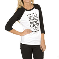 Cowgirl Justice Women's Johnny Cash Baseball Tee