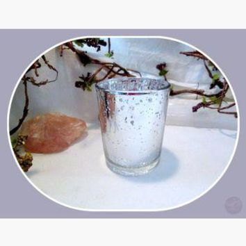 Silver Glass Votive Candle Holder
