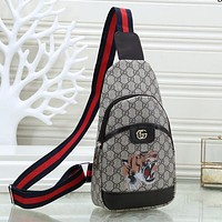 GUCCI Louis Vuitton Men Leather Purse Single-Shoulder Bag Crossbody