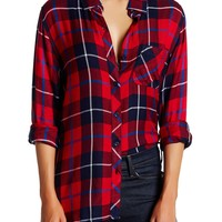 Beach Lunch Lounge   Charley Plaid Blouse   Nordstrom Rack
