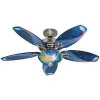 Hunter Discovery 48 in. Brushed Nickel Ceiling Fan-20168 at The Home Depot