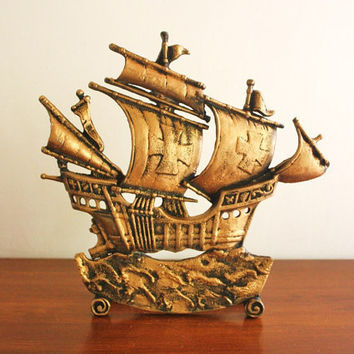 Large vintage cast iron ship doorstop by highstreetmarket on Etsy