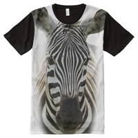 Zebra All-Over Printed T-Shirt All-Over Print T-shirt