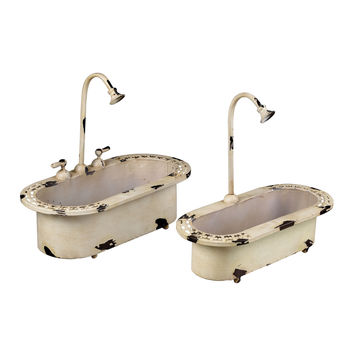 "Set Of 2 ""Sink"" Planters"